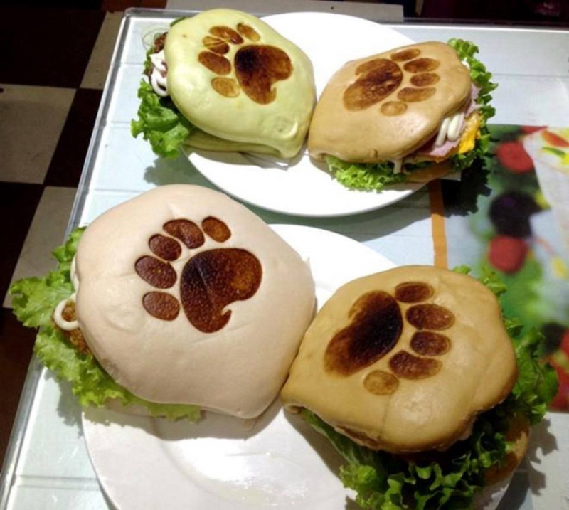 Bánh Burger tay gấu