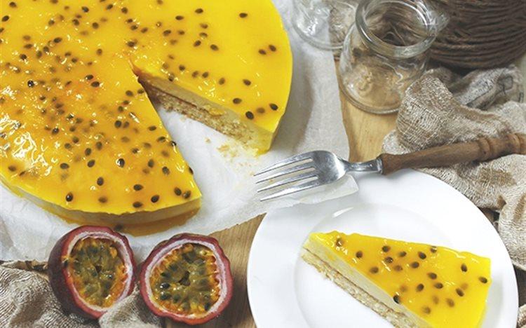 Bánh cheesecake chanh dây