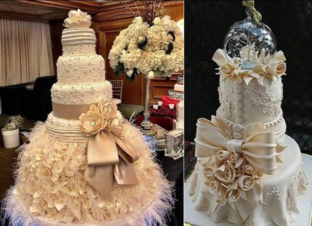 Chiếc bánh cưới tựa hồ như tà áo thướt tha của cô dâu mới