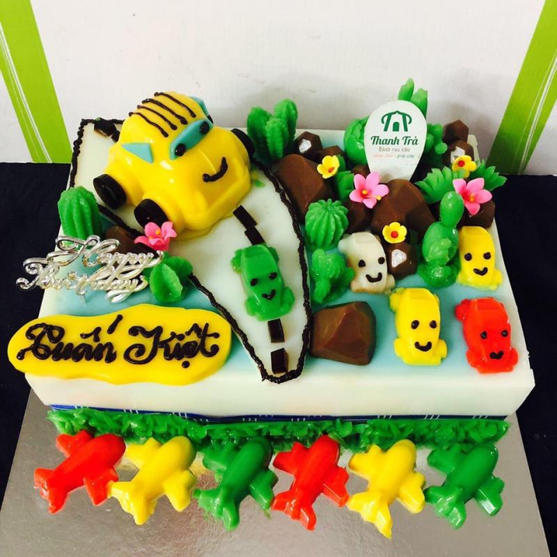 Mẫu bánh sinh nhật rau câu tại Thanh Trà