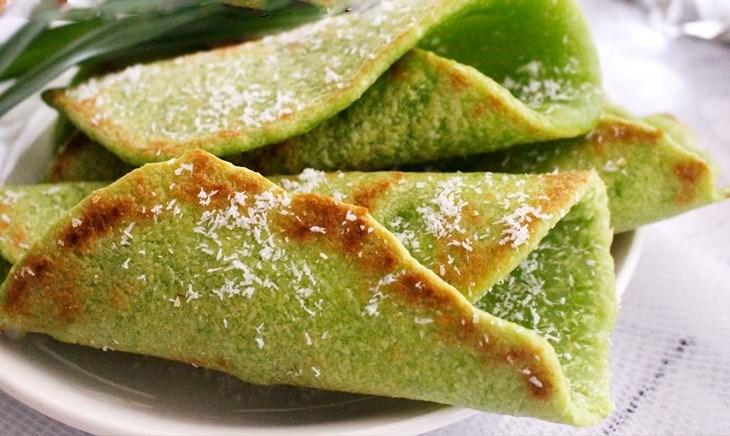 Bánh lá dứa dừa rán