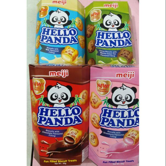 Bánh Meiji Hello Panda có nhiều hương vị đê bạn lụa chọn