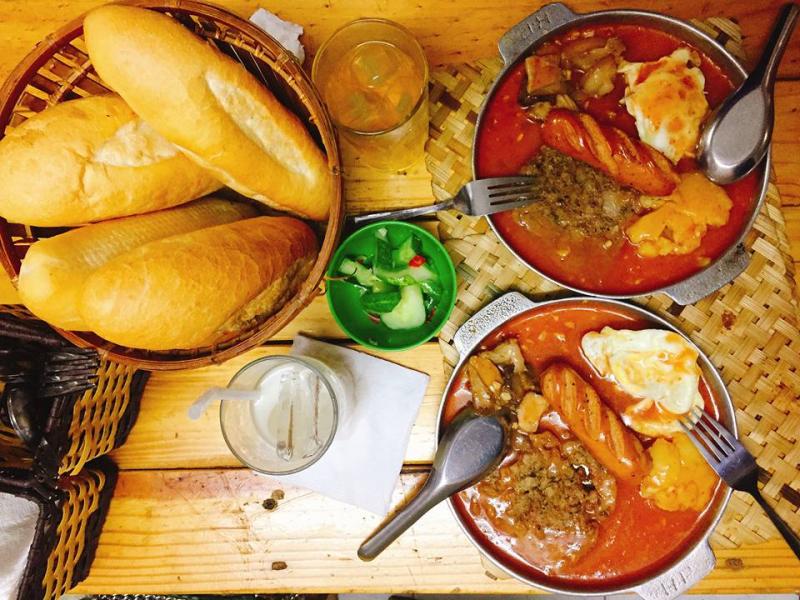Bánh mì chảo Cột Điện