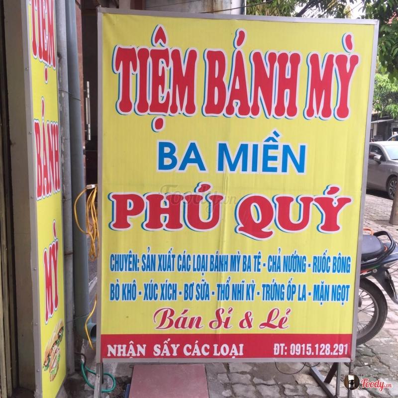 Bánh mì thương hiệu nổi tiếng Phú Quý