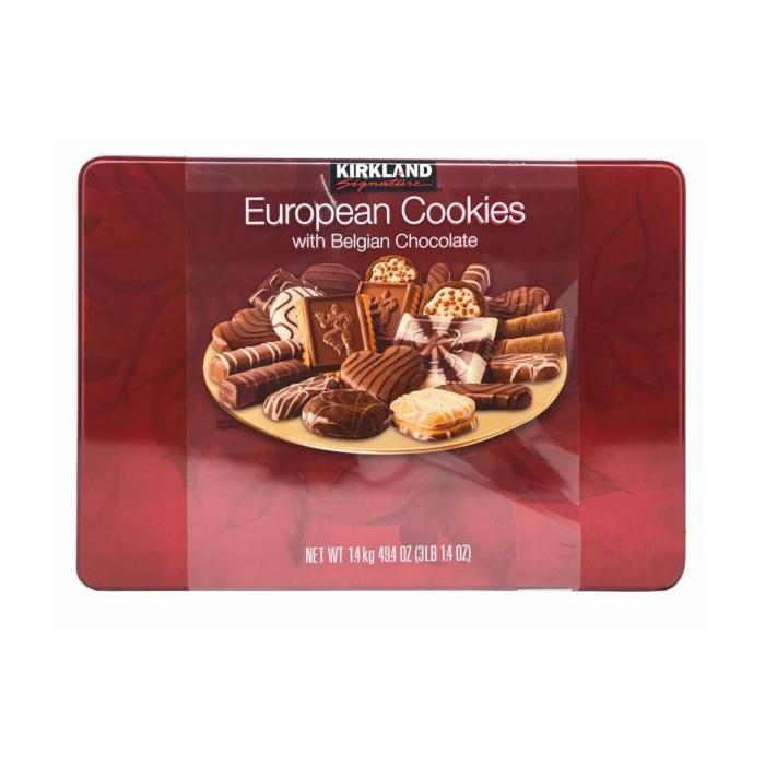 Bánh quy Kirkland Signature European Cookies With Belgian Chocolate tổng hợp 15 loại bánh với nhiều mùi hương đặc trưng mà khiến cho nhiều người không thể cưỡng lại được