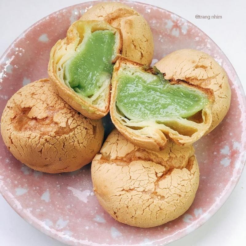Bánh su kem trà xanh