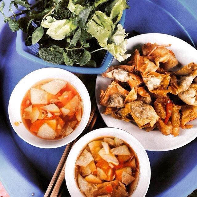Shrimp, fried dumplings - Hang Bo