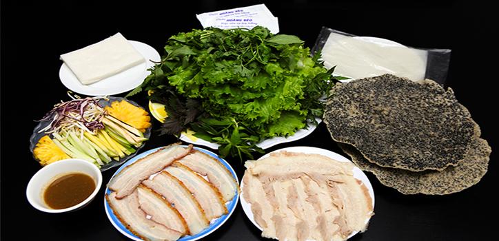 Bánh tráng cuốn thịt heo tại Đà Nẵng
