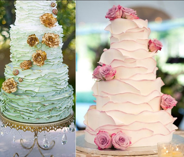 Thổi hương sắc vào bánh cưới với những chi tiết nhẹ nhàng!