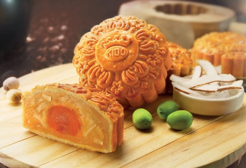 Bánh nướng nhân trứng muối của Kinh Đô