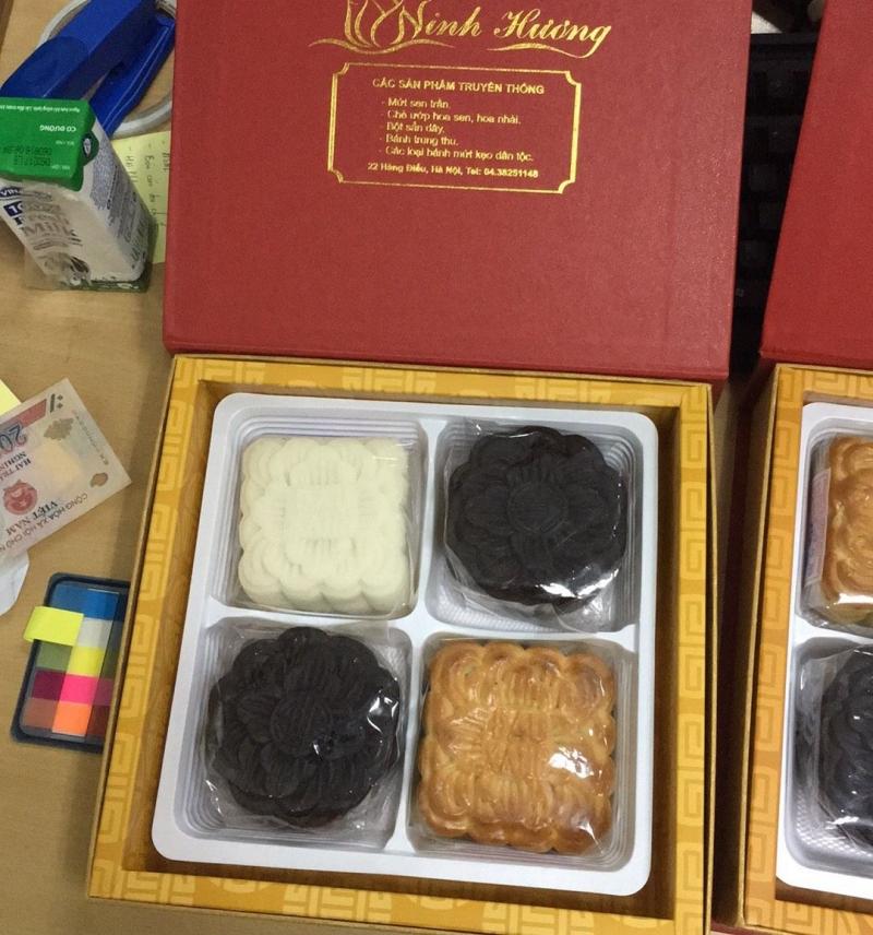 Mẫu sản phẩm của bánh trung thu Ninh Hương
