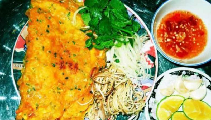 Bánh xèo biển Long Hải