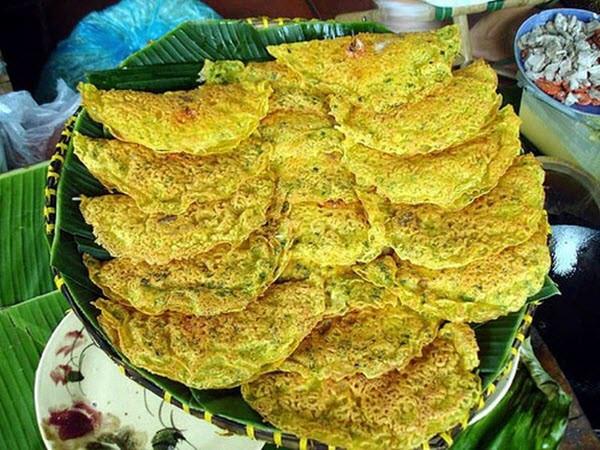 Hoa văn độc đáo của bánh xèo Quảng Hòa