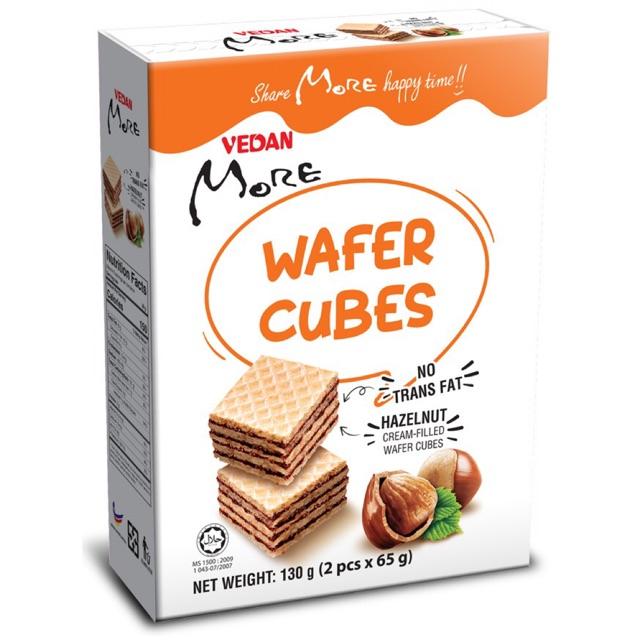 Bánh xốp Wafer Cubes hương Hạt Phỉ Vedan More