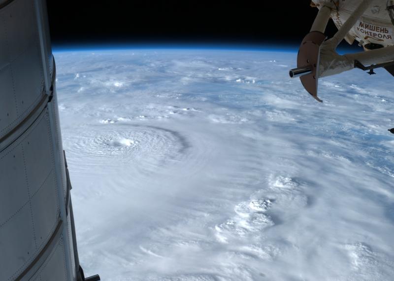 Hình ảnh chụp từ vệ tinh của siêu bão Bopha.