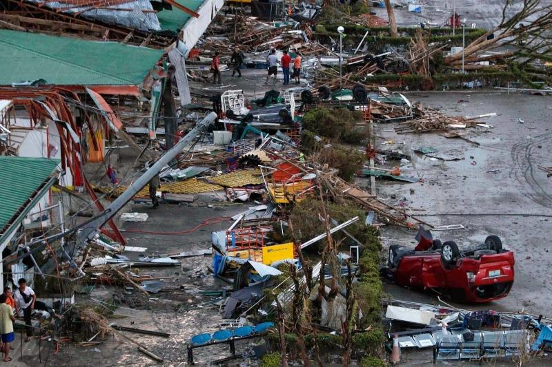 Hậu quả để lại của siêu bão Fengshen ở Phillipines.