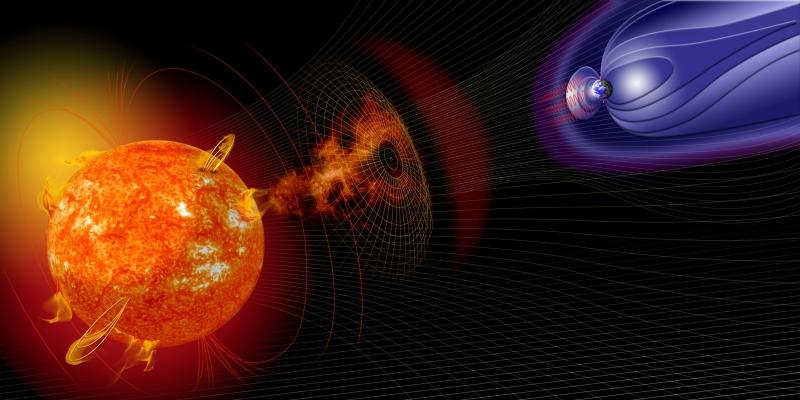 Bão mặt trời ảnh hưởng tới Trái Đất