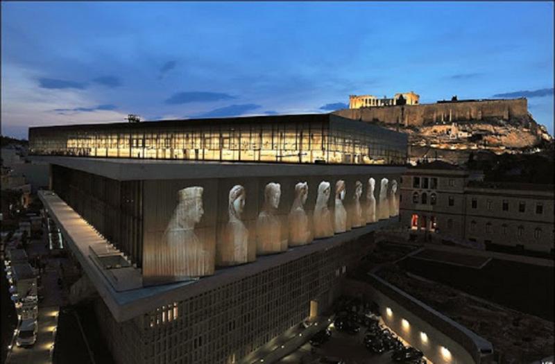 Bảo tàng Acropolis về đêm