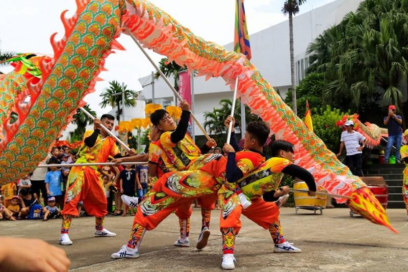 Múa lân rồng tại Bảo tàng Dân tộc học Việt Nam