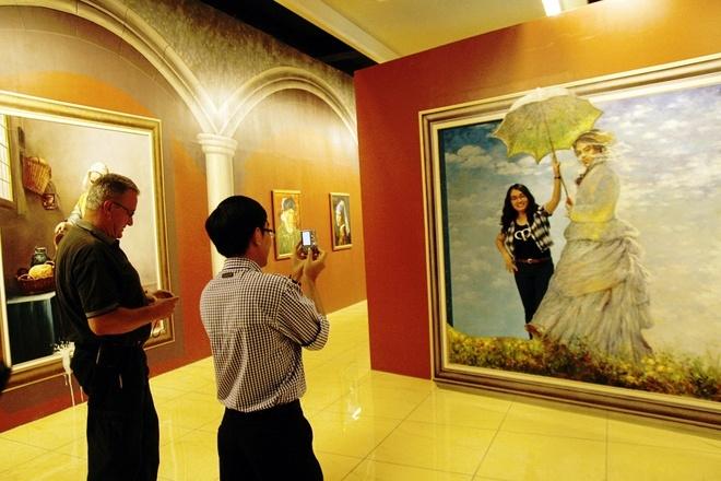 Bảo tàng tranh 3D, chiêm ngưỡng và chụp những bức ảnh nghệ thuật để khoe với mọi người thì còn gì bằng