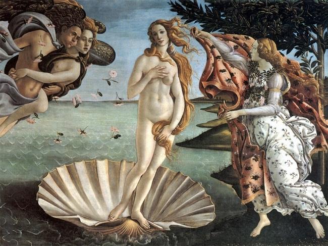 Tranh nữ thần Venus ở bảo tàng Uffizi