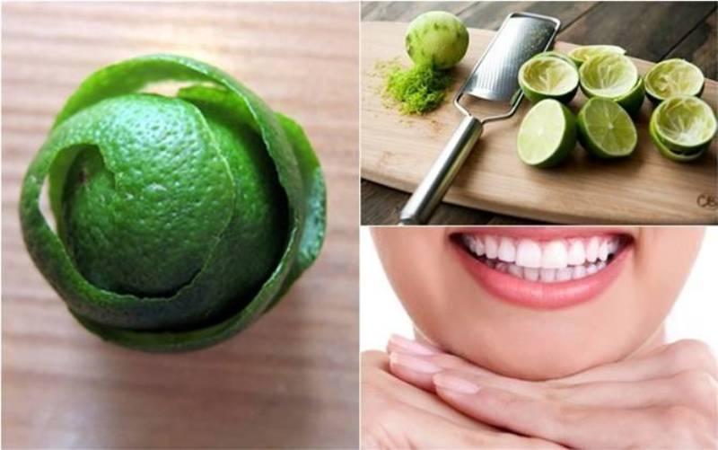 Vỏ chanh cho răng miệng chắc khỏe