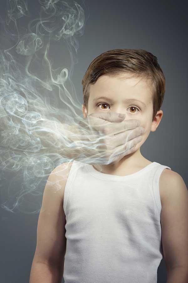 Làn khói thuốc giống nhau đang cản trở sự phát triển của trẻ em vậy.