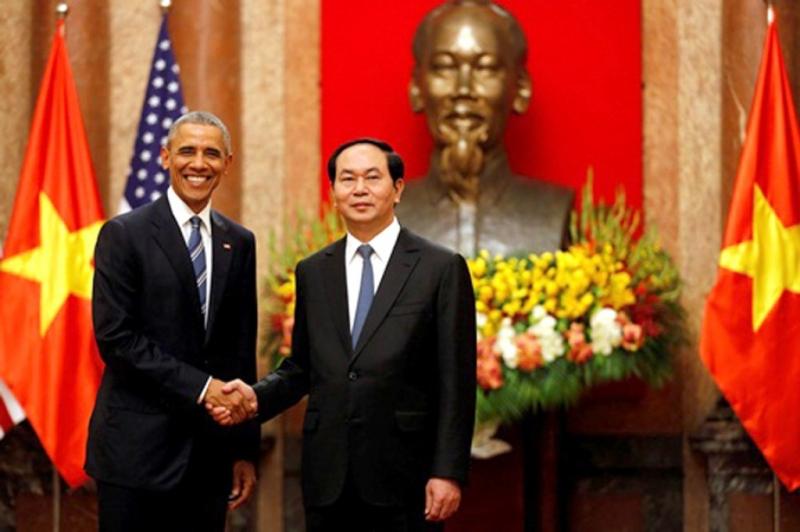 tổng thống Obama và chủ tịch nước Trần Đại Quang
