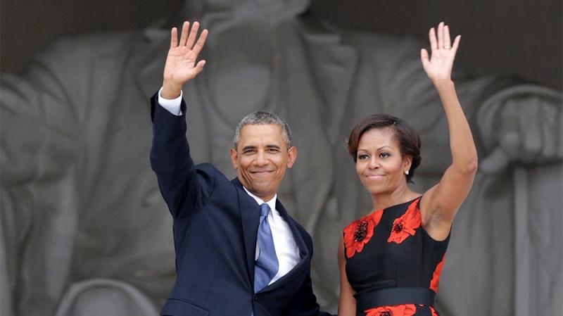 tổng thống Obama và vợ Michelle