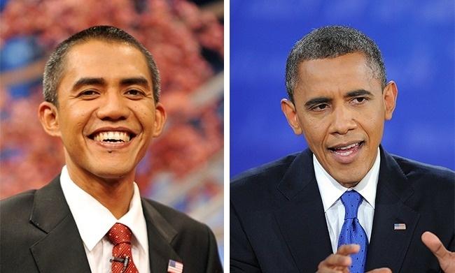 Hai người này có những điểm giống nhau đến thú vị! Liệu anh chàng này có được mời đóng phim về Obama không nhỉ?