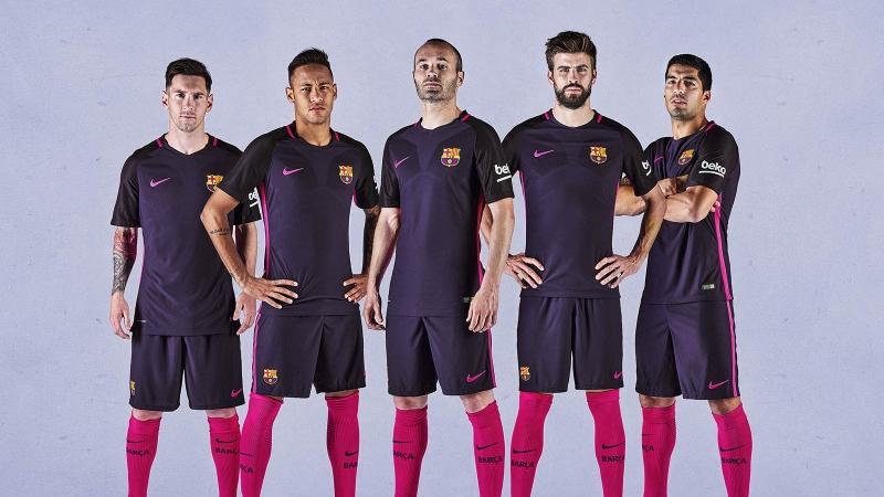 Trang phục sân khách của Barca