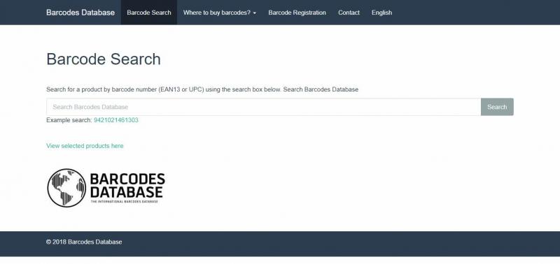 Barcode Database dễ hiểu, dễ dùng