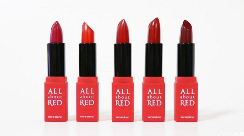 Màu son đỏ đầu ấn tượng của Bare Blanc All About Red Lipsticks