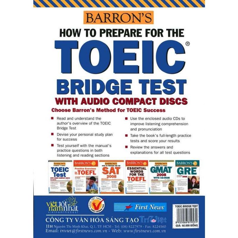 BARRON'S HOW TO PREPARE FOR THE TOEIC BRIDGE TEST