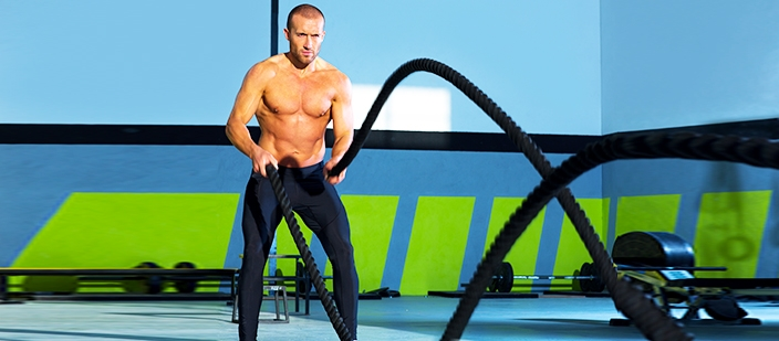 Bài Cardio Battle Ropes
