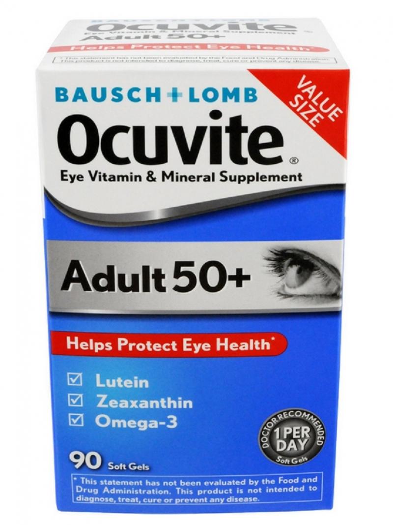 Baush +Lomb Ocuvite 50+ giúp bảo vệ đôi mắt người từ 50 tuổi trở lên