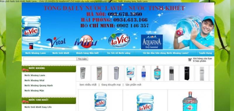 Tổng đại lý phân phối nước khoáng, nước tinh khiết LaVie