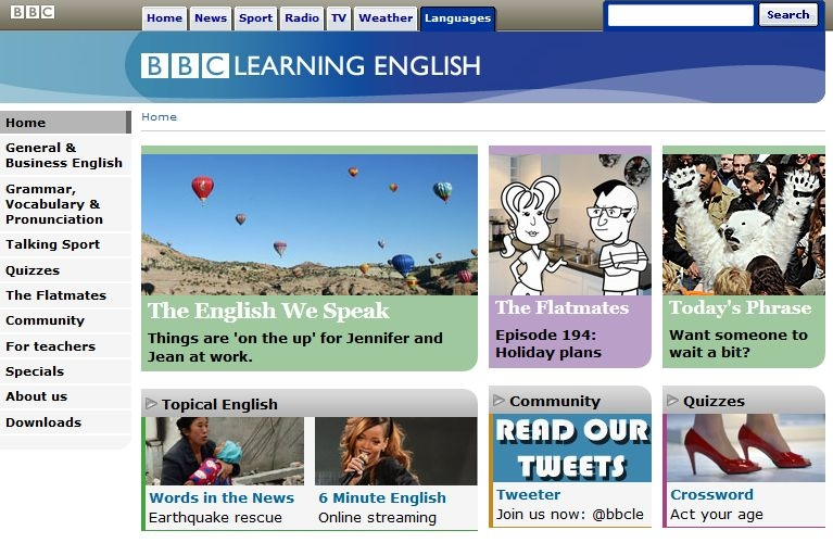 Website của BBC Learning English