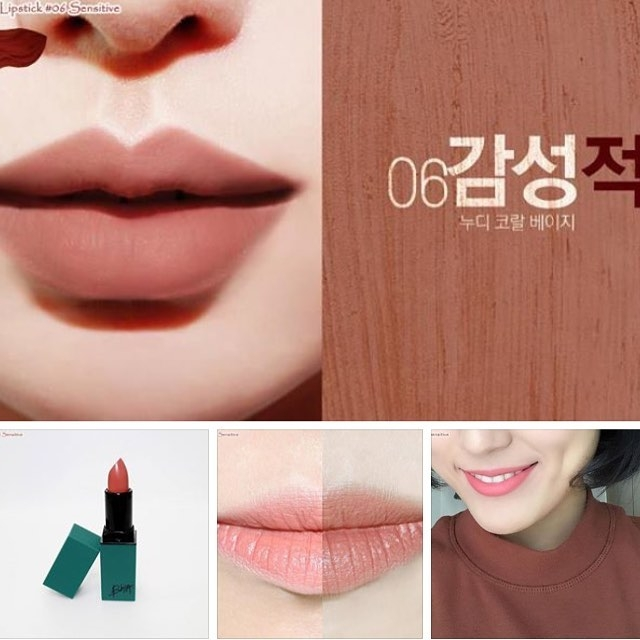 Bbia Last Lipstick #06 khi thử lên môi.