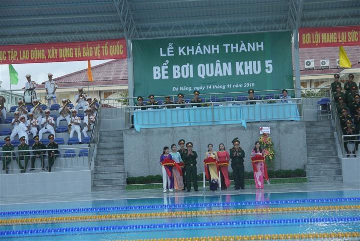 Lễ khánh thành bể bơi Quân khu 5 Đà Nẵng