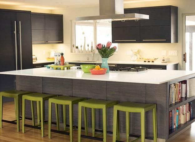 Mặt bàn chế biến thức ăn được thiết kế phù hợp với bếp