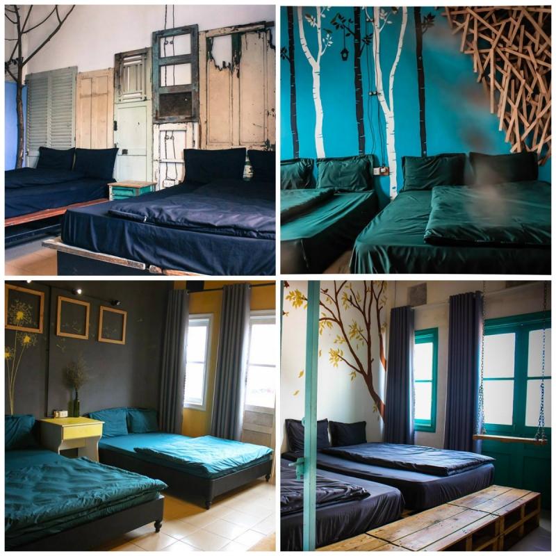 Mỗi phòng là một kiểu decor khác nhau, độc đáo, sáng tạo và nổi bật.