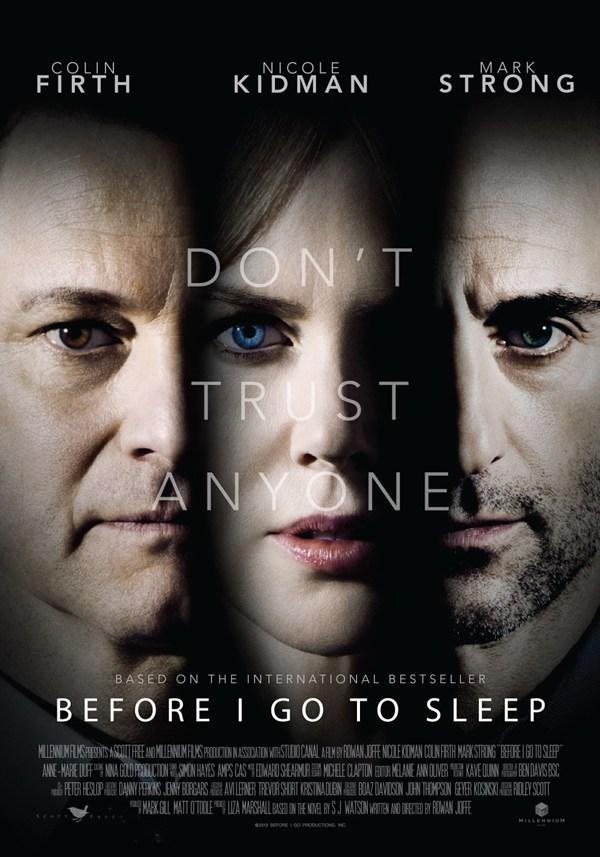 Poster chính thức của Before I go to sleep