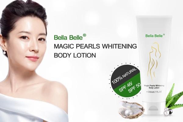 Kem dưỡng trắng da toàn thân Bella Belle Magic Pearl Whitening Body Lotion SPF46  tốt nhất hiện nay