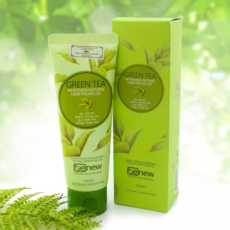 Tẩy tế bào chết trà xanh cao cấp Hàn Quốc Benew Green Tea Peeling Gel