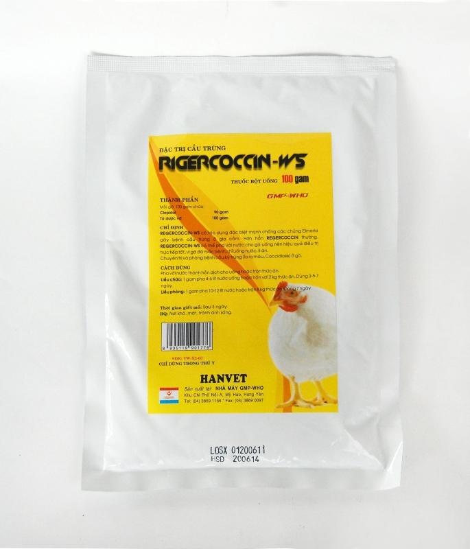 Rigecoccin - một trong những loại thuốc chữa cầu trùng ở gà