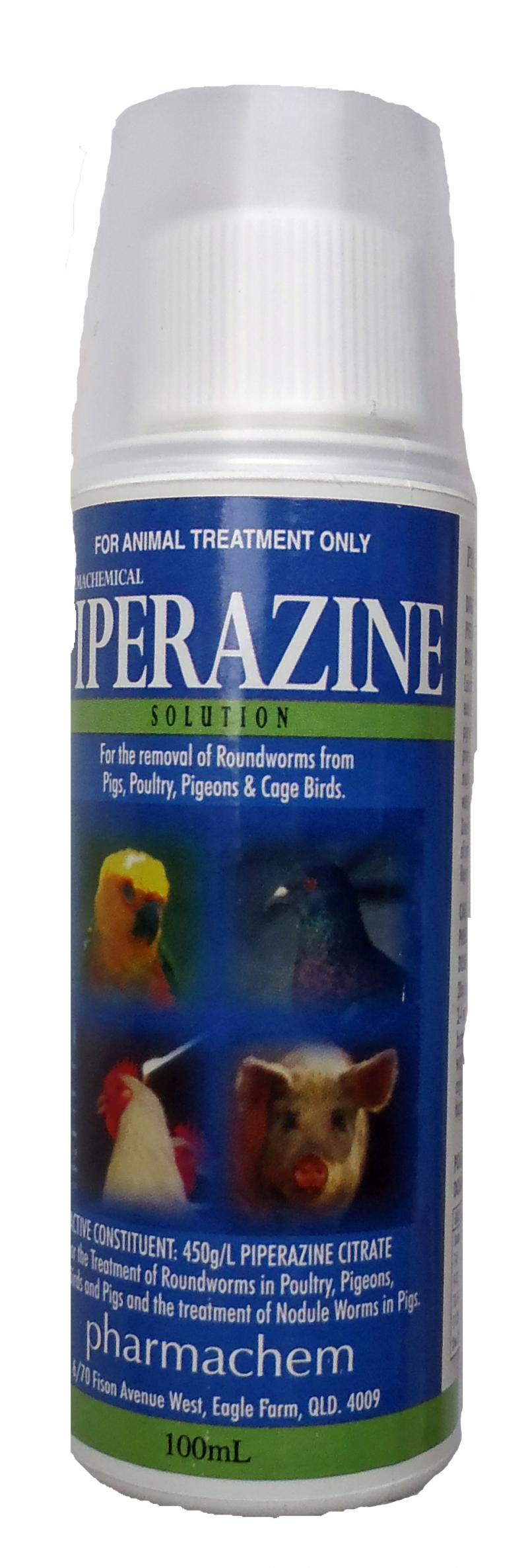 Khi phát hiện gà bị giun đũa thì bạn mưa Pierazin hoặc trộn vào thức ăn