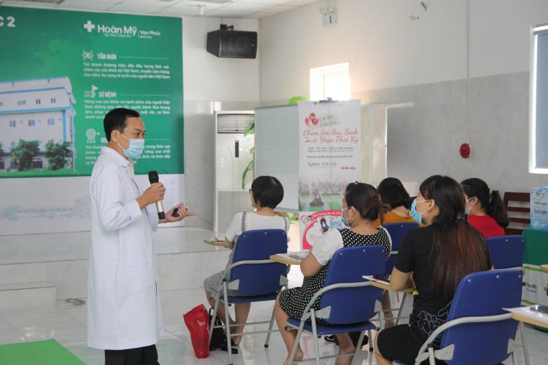 Lớp học tiền sản tại Bệnh viện đa khoa Hoàn Mỹ Vạn Phúc 2