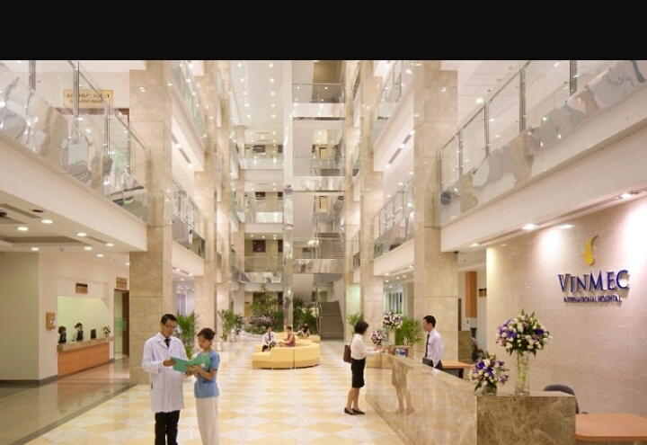 Sảnh chờ tại bệnh viện đa khoa quốc tế Vinmec