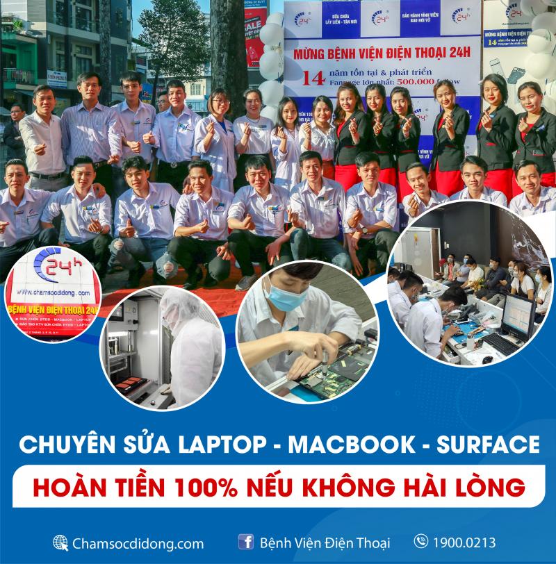Bệnh Viện Điện Thoại 24h - Sửa Chữa Laptop